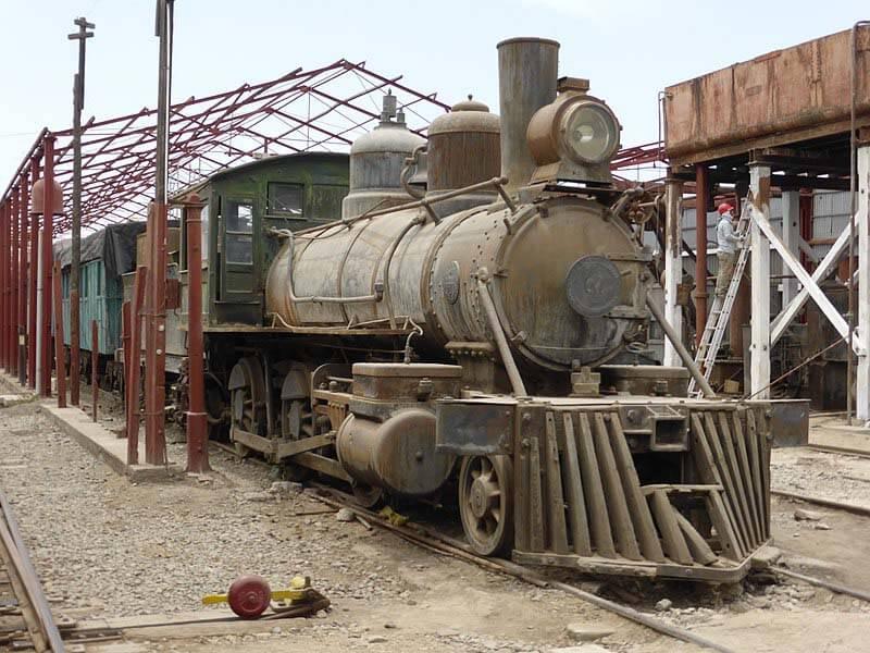 Locomotora en el Museo Ferroviario