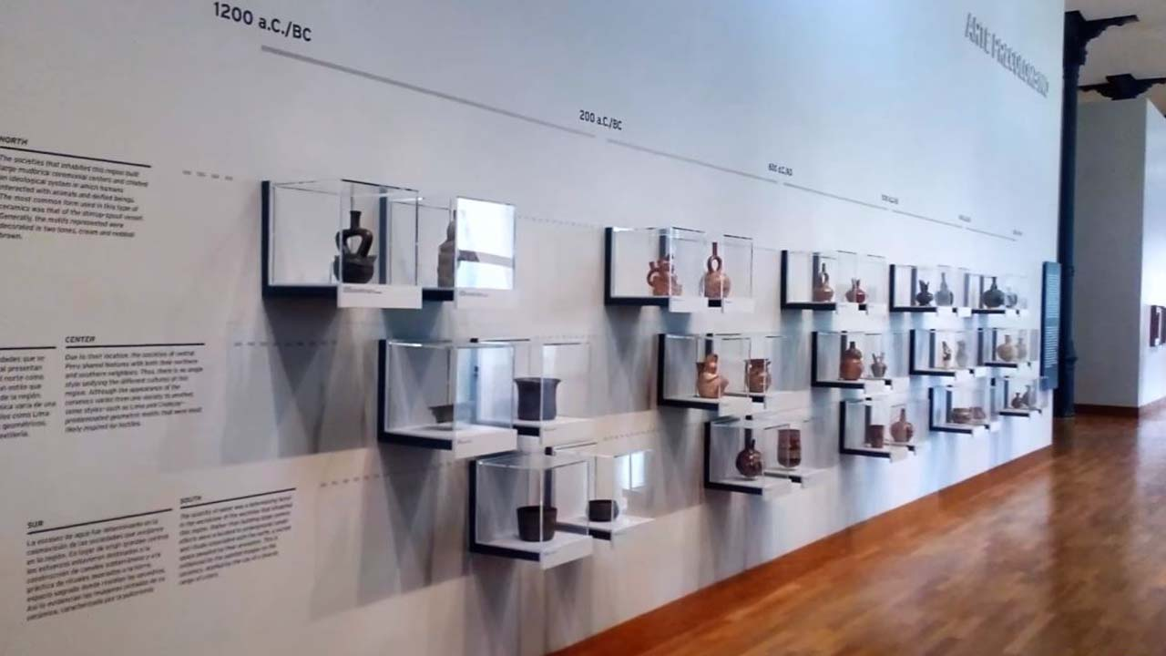 Huacos en Orden Cronologico Museo de Arte de Lima