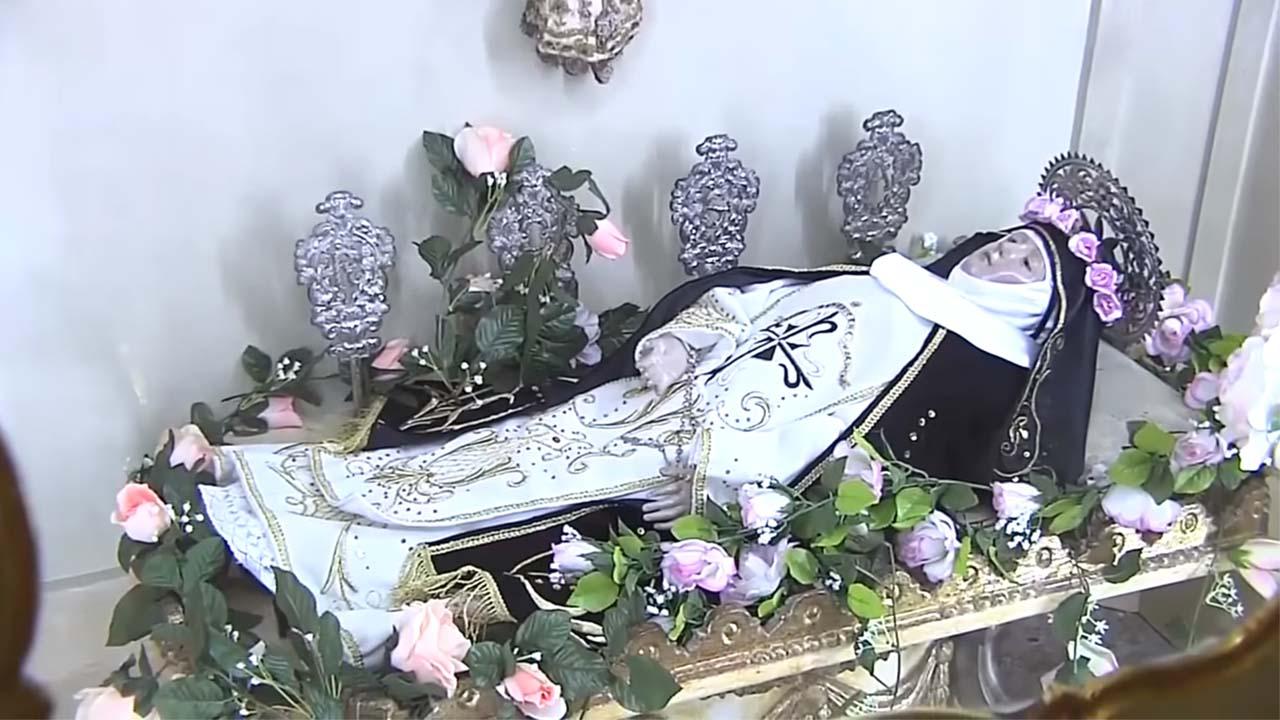 Representacion de santa Rosa en la capilla del Monasterio de Santa Rosa de Lima