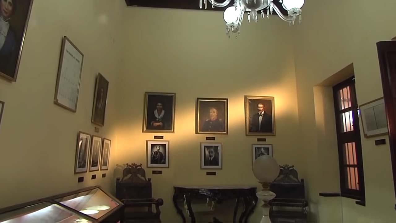 Sala dedicada a la familia de Bolognesi en el Museo de los Combatientes del Morro de Arica