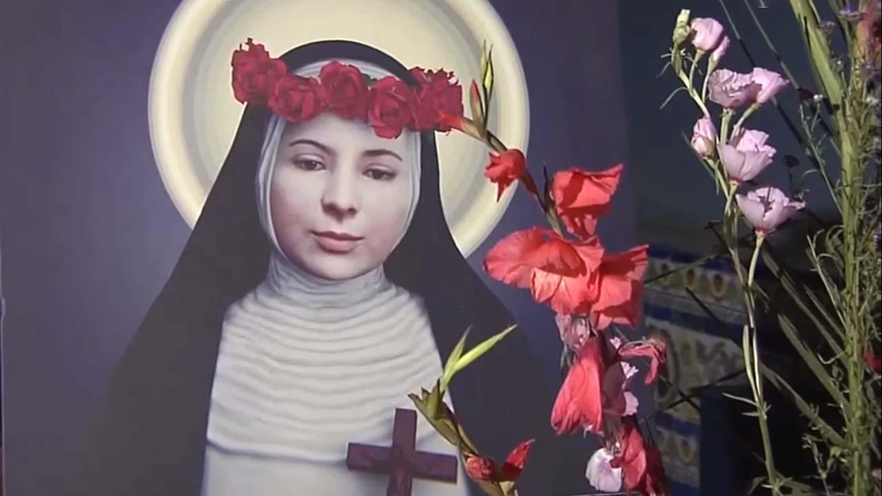 Santa Rosa de Lima - Rostro representado en cuadro