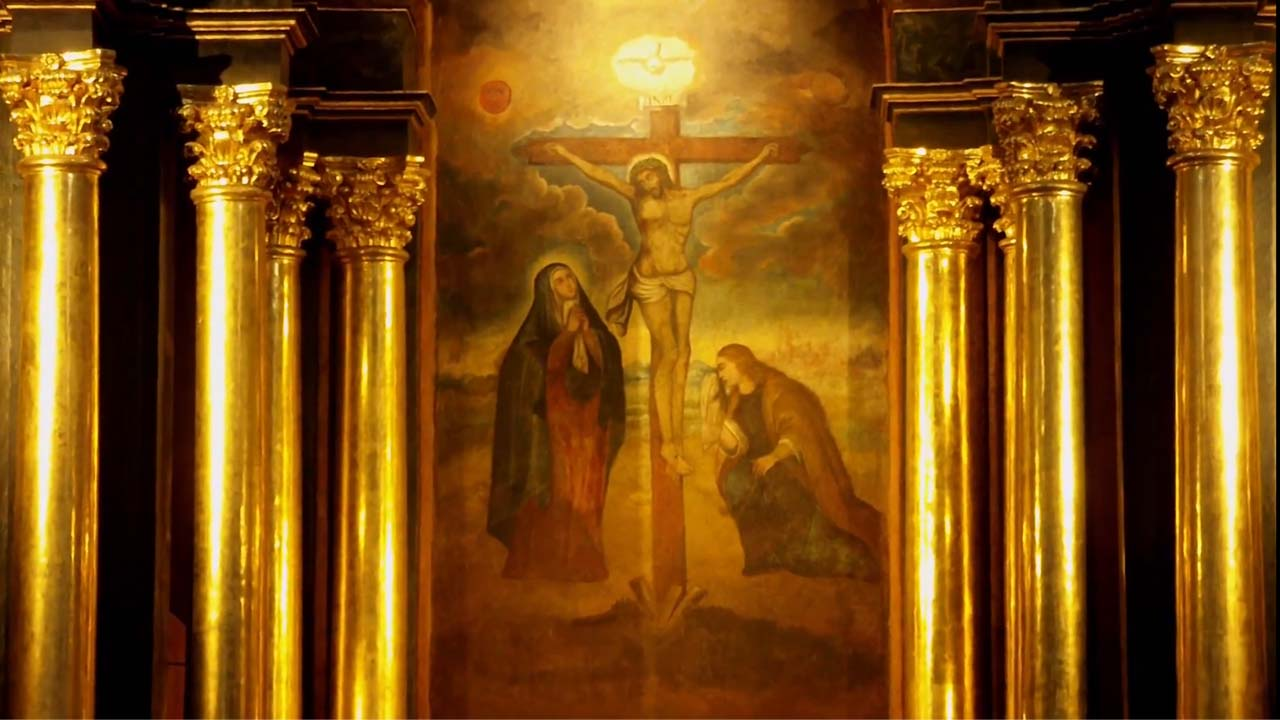 Imagen Original del Señor de los milagros en la iglesia de las nazarenas