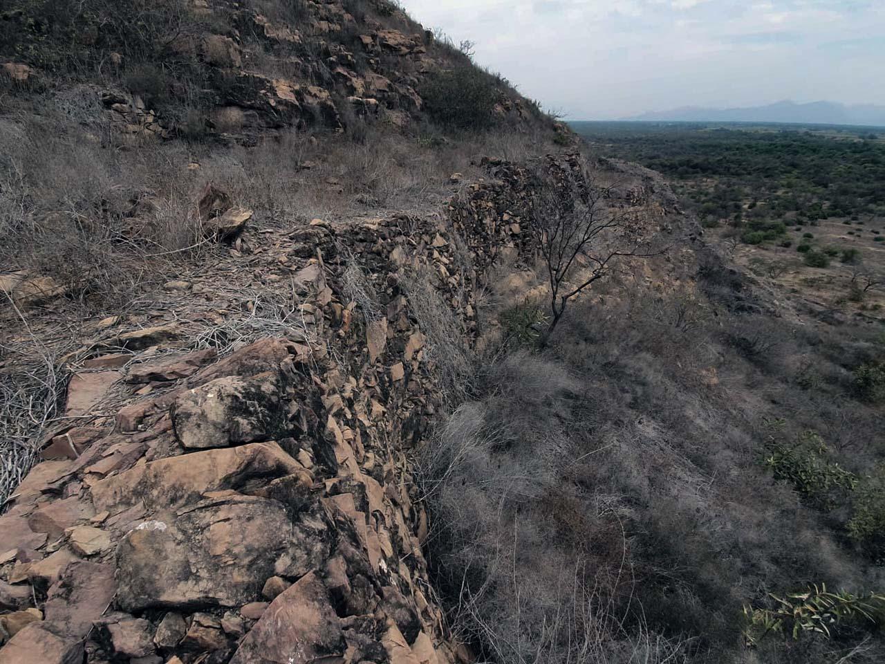 Muralla en el Complejo Arqueológico de Jotoro